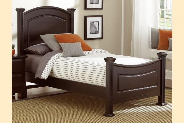 Virginia House Delano-Merlot Twin Panel Bed