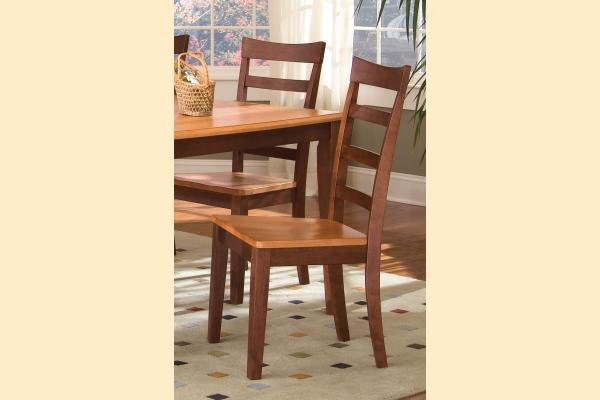 A-America Bristol Point Honey & Chestnut Ladder Back Side Chair