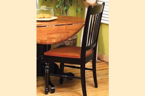 A-America British Isles Honey & Espresso Slat Back Side Chair