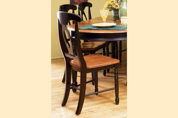 A-America British Isles Honey & Espresso Napoleon Side Chair