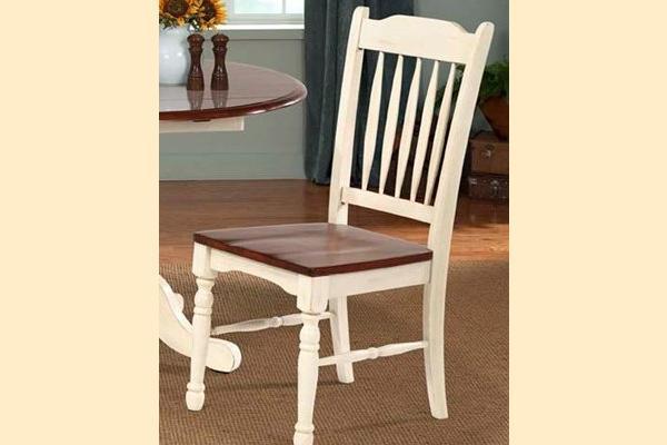 A-America British Isles Merlot & Buttermilk Slat Back Side Chair