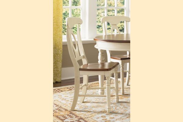 A-America British Isles Merlot & Buttermilk Napoleon Side Chair