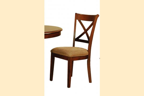 A-America Desoto X-Back Side Chair w/ Uph. Seat