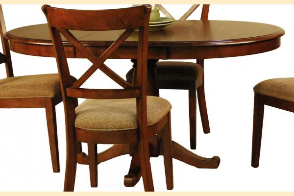 A-America Desoto Oval Pedestal Table w/ One 18