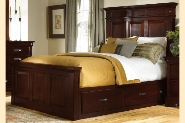A-America Kalispell Queen Mantel Bed w/Storage Boxes