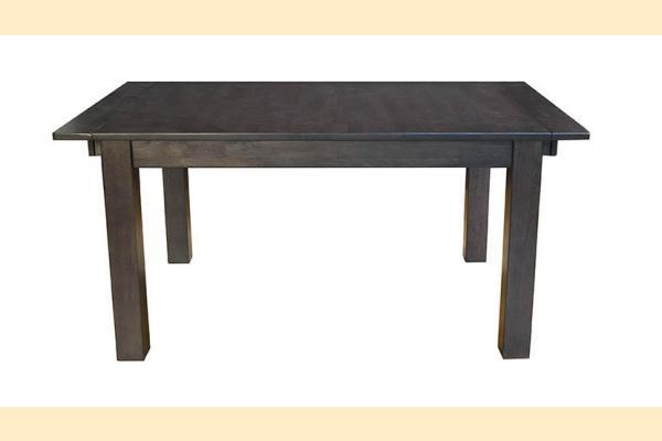 A-America Mariposa-Dark Leg Dining Table w/ 2 18 Inch Leaves