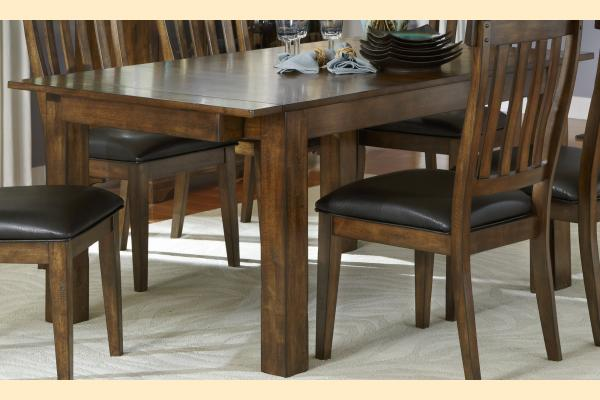 A-America Mariposa Leg Dining Table w/ 2 18 Inch Leaves