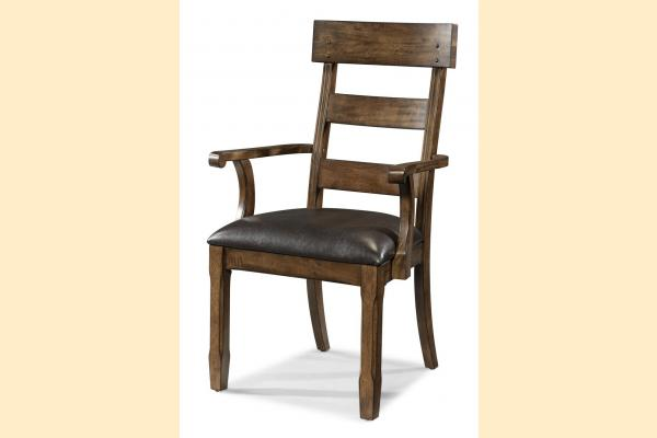 A-America Ozark Plank Upholstered Arm Chair