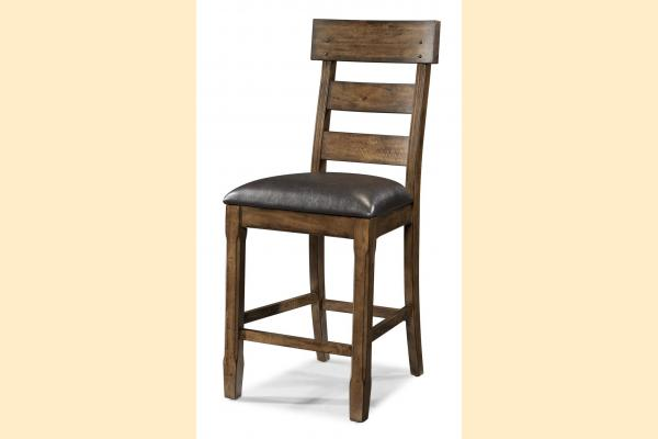 A-America Ozark Plank Upholstered Stool