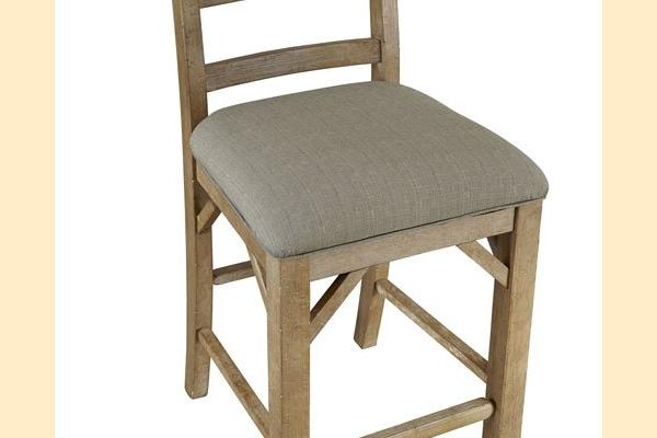 A-America West Valley-Dining Ladderback Upholstered Counter Stool