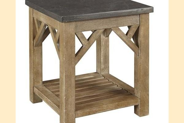 A-America West Valley Bluestone Square End Table