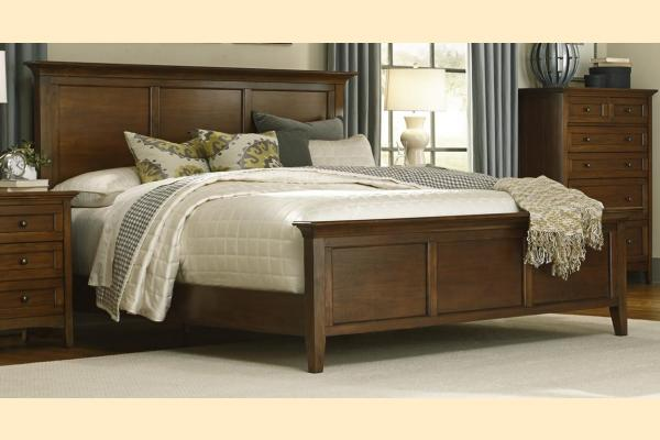 A-America Westlake-Cherry Brown Queen Panel Bed