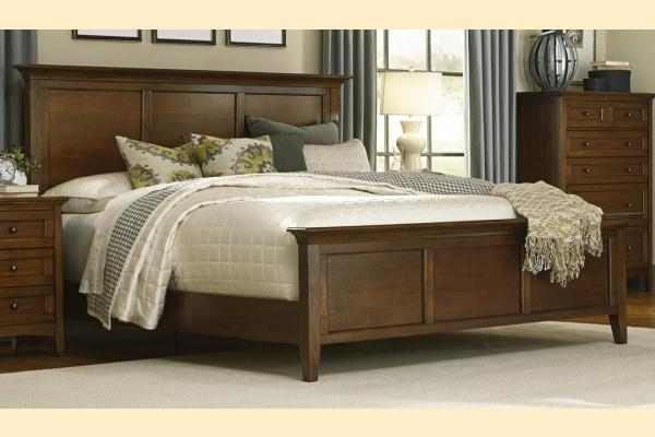 A-America Westlake-Cherry Brown King Panel Bed