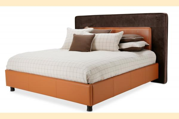 Aico 21 Cosmopolitan Queen Upholstered Tufted Bed