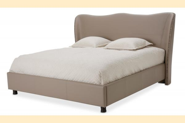 Aico 21 Cosmopolitan Queen Upholstered Wing Bed