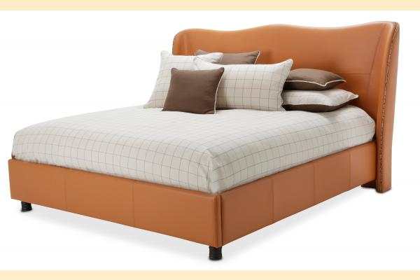 Aico 21 Cosmopolitan Queen Upholstered Wing Bed