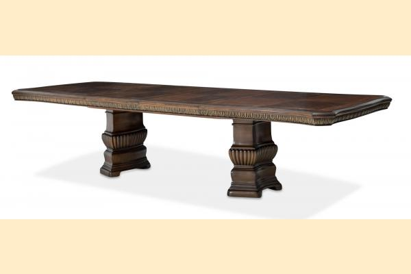 Aico Bella Veneto Rectangular Dining Table w/ 2 24 Inch Leaves