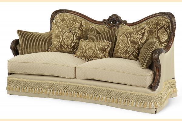 Aico Chateau Beauvais Wood Trim Sofa Opt 1