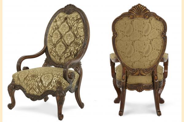 Aico Chateau Beauvais Fabric Wood Chair Opt 1