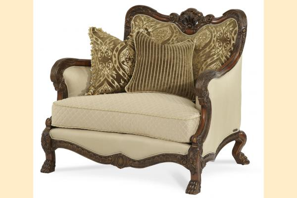 Aico Chateau Beauvais Wood Trim Chair and a Half Opt 1