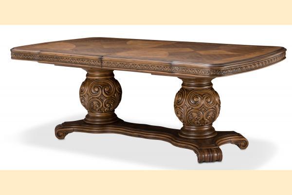 Aico Eden's Paradise Rectangular Pedestal Table w/ 2 24 Inch Leaves