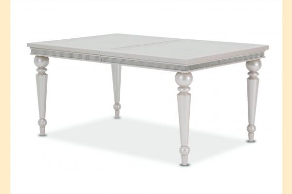 Aico Glimmering Heights Leg Dining Table w/ 1 23.75 Inch Leaf
