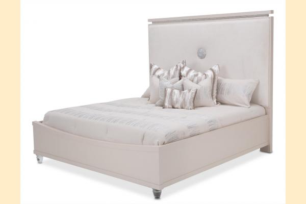 Aico Glimmering Heights Cal-King Upholstered Bed