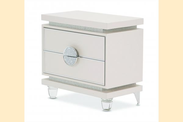 Aico Glimmering Heights Upholstered Nightstand