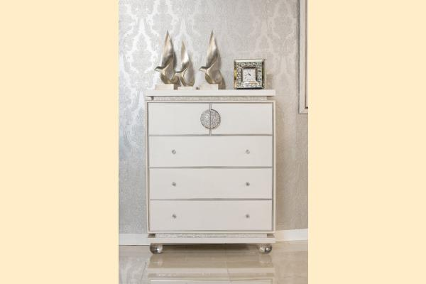 Aico Glimmering Heights Upholstered 5 Drawer Chest