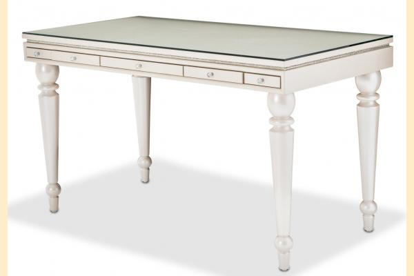 Aico Glimmering Heights Writing Desk w/ Glass Top