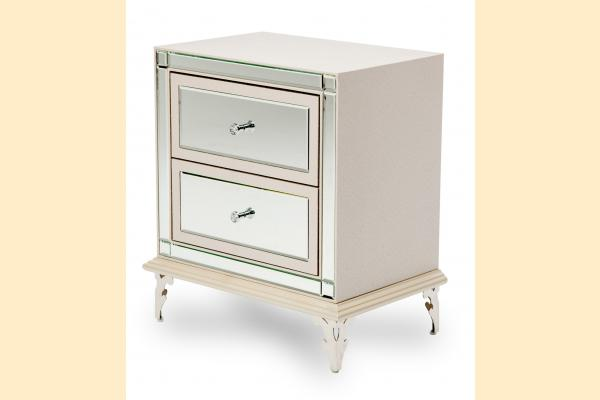 Aico Hollywood Loft Upholstered Nightstand-Frost