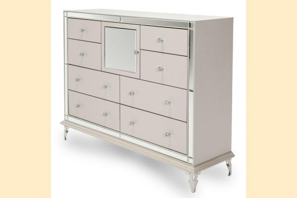 Aico Hollywood Loft Upholstered Dresser-Frost