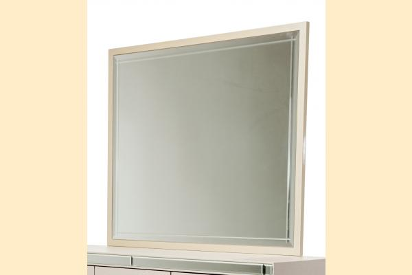 Aico Hollywood Loft Rectangular Dresser Mirror-Pearl
