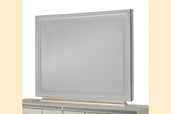 Aico Hollywood Swank Rectangular Dresser Mirror Only-Crystal Croc