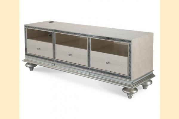 Aico Hollywood Swank Entertainment Console-Crystal Croc