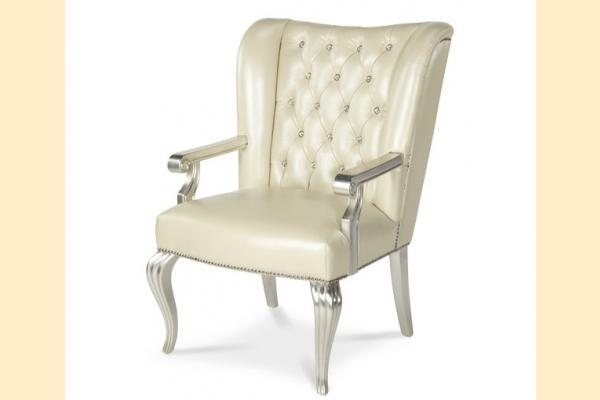 Aico Hollywood Swank Desk Chair-Creamy Pearl