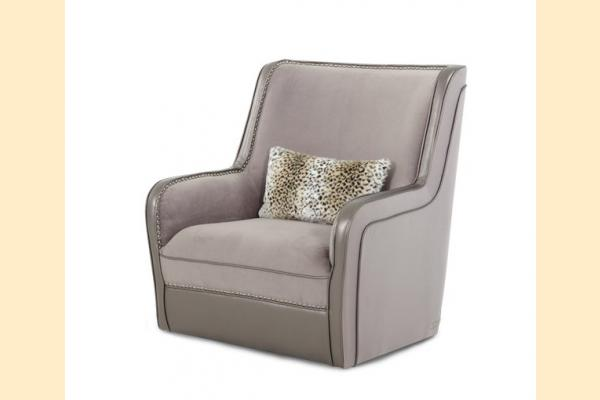 Aico Hollywood Swank Upholstered Swivel Chair Grp 3 Opt 1