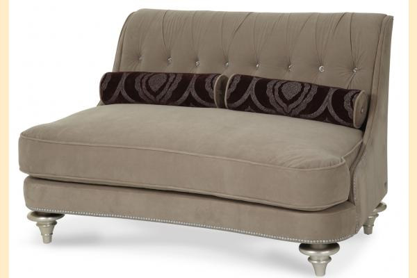 Aico Hollywood Swank Taupe Settee Grp 1 Opt 2