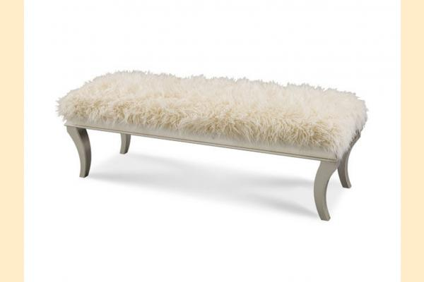 Aico Hollywood Swank Bed Bench-Platinum