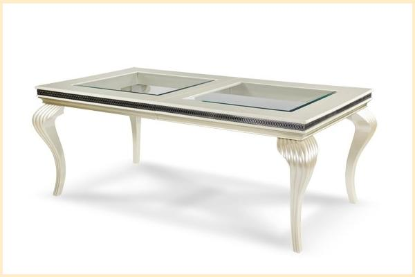Aico Hollywood Swank Leg Dining Table-Pearl Caviar Includes One 24