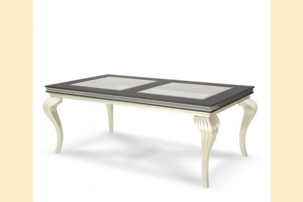 Aico Hollywood Swank Leg Dining Table-Caviar Includes One 24