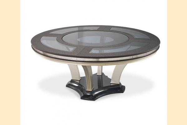 Aico Hollywood Swank Round Dining Table-Caviar