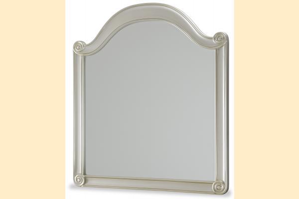 Aico Hollywood Swank Wall Mirror-Pearl