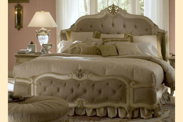 Aico Lavelle Blanc Queen Wing Mansion Bed