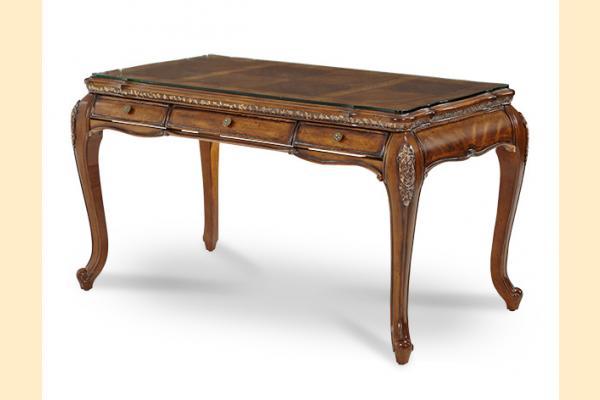 Aico Lavelle Melange Desk w/ Glass Top