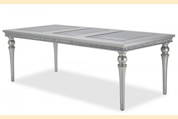 Aico Melrose Plaza Upholstered Dining Table w/ One 23.75 Inch Leaf