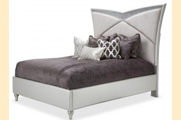 Aico Melrose Plaza King Upholstered Bed