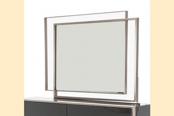 Aico Metro Lights Metal Wall Mirror