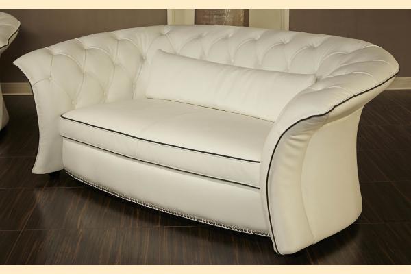 Aico Molisa Leather Flare Arm Sofa Opt 1