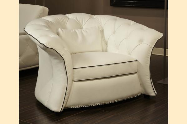 Aico Molisa Leather Flare Arm Chair Opt 1